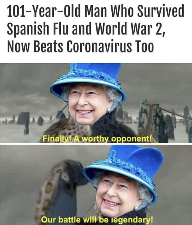 Queen Elizabeth fun meme survived on world-war 2
